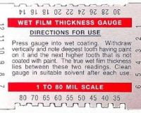 Dual Scale Wet Film Gauge