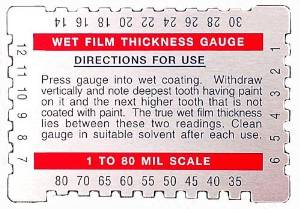 Dual Scale Wet Film Gauge Card